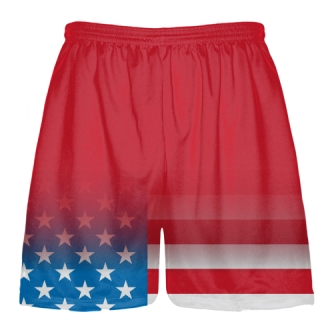 Red Fade USA Flag Shorts