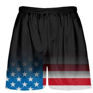 Black Fade USA Flag Shorts