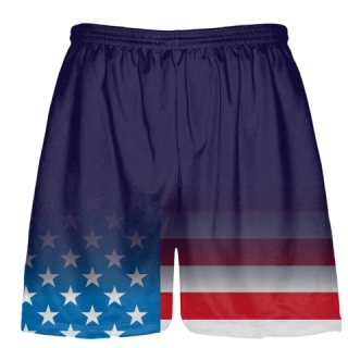 Navy USA Flag Fade Shorts