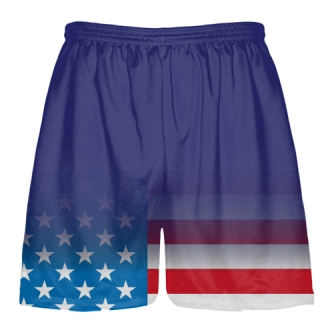 Royal Blue USA Fade Lacrosse Shorts