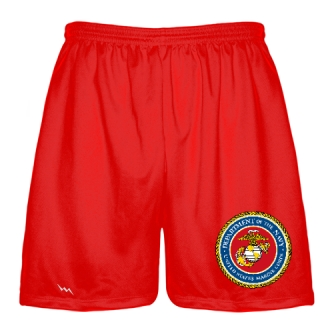 Red Marine Corp Shorts Full Color Logo