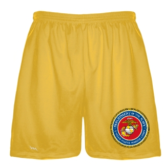 Gold Marine Corp Shorts Full Color Logo