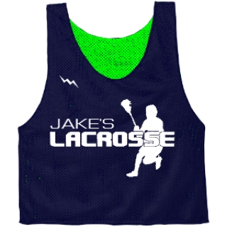 Custom Bar Mitzvah Lacrosse Pinnies